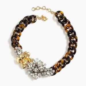 J.Crew tortoise crystal flower necklace